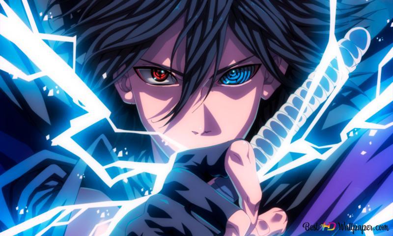 naruto shippuden sasuke uchiha mangekyo sharingan rinnegan lightning style jutsu wallpaper 800x480 8014 12