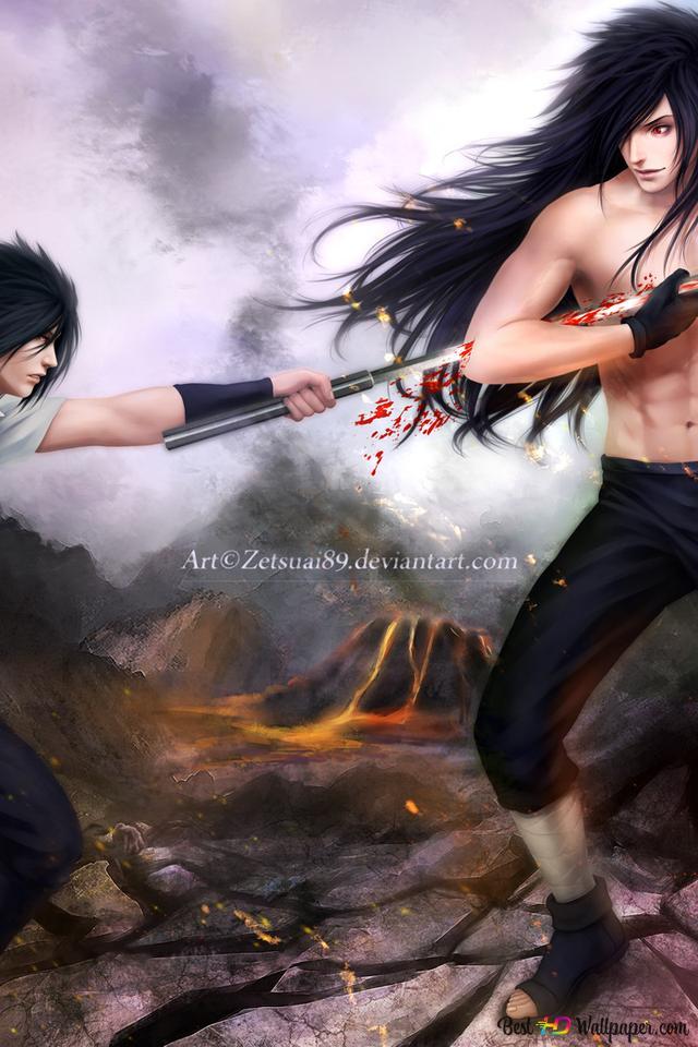 Naruto Shippuden Sasuke Uchiha Pedang Madara Uchiha Unduhan Wallpaper Hd