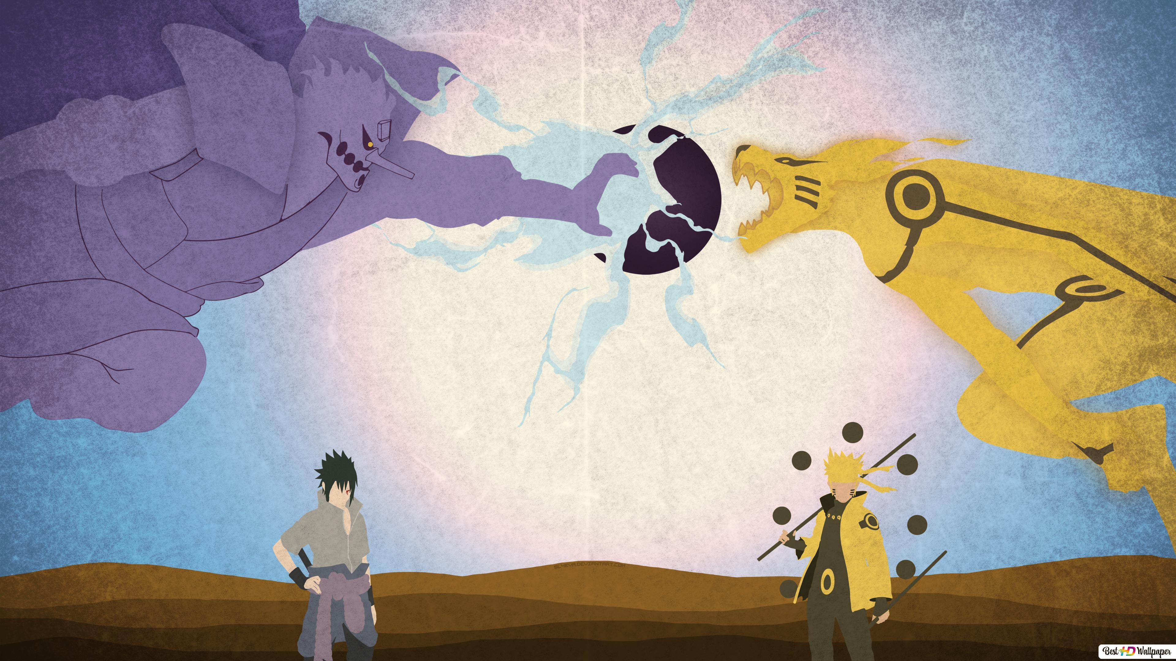 Naruto Vs Sasuke Hd Wallpaper Download