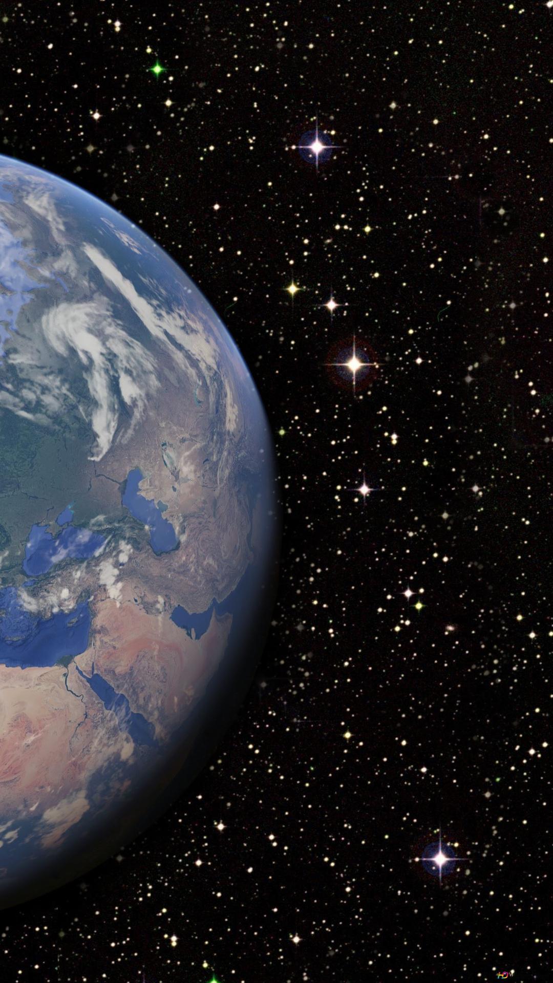 Nello Spazio Terra E La Luna Download Di Sfondi Hd
