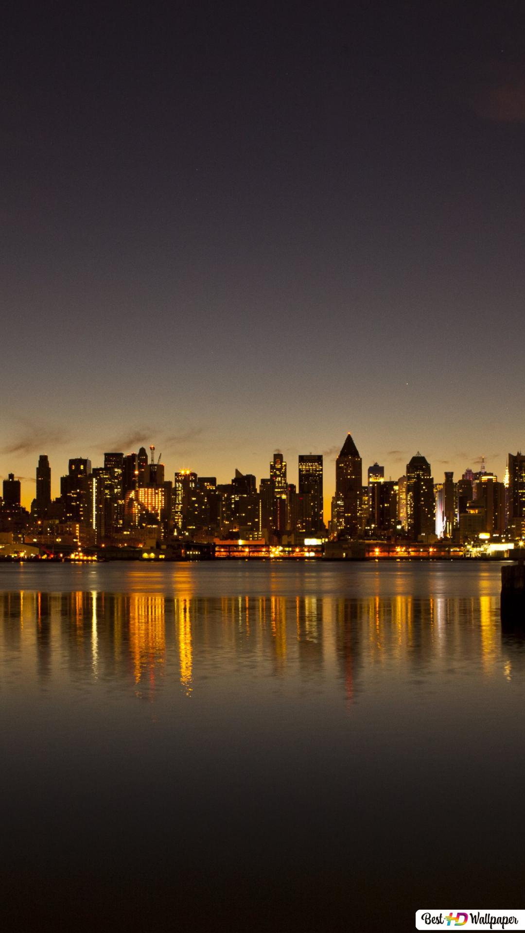 New York City By Night Hd Wallpaper Download