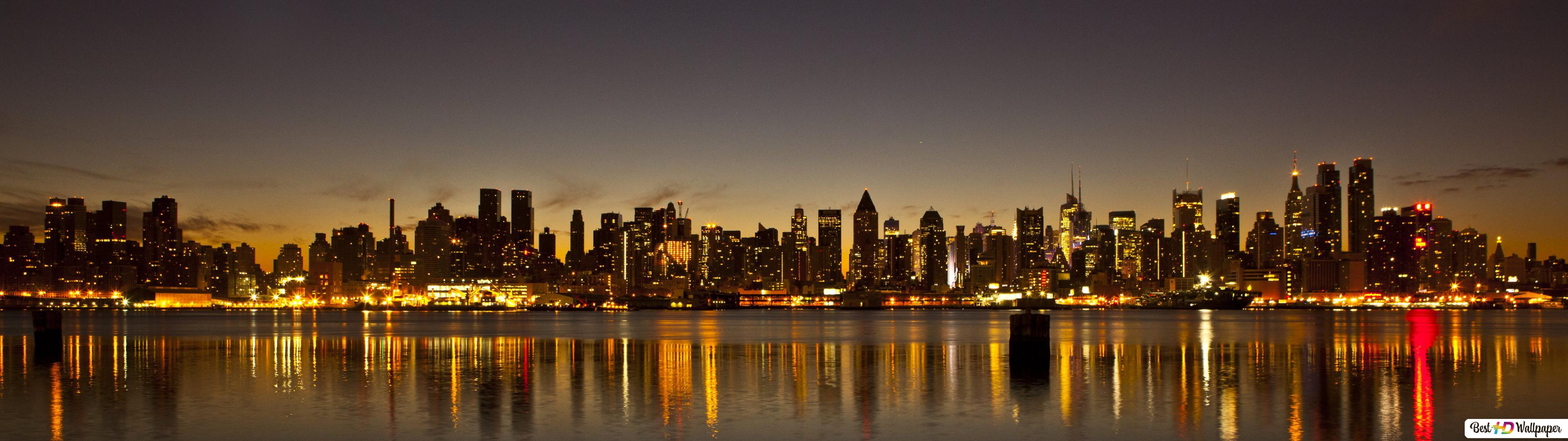 New York Par Nuit Hd Fond Décran Télécharger