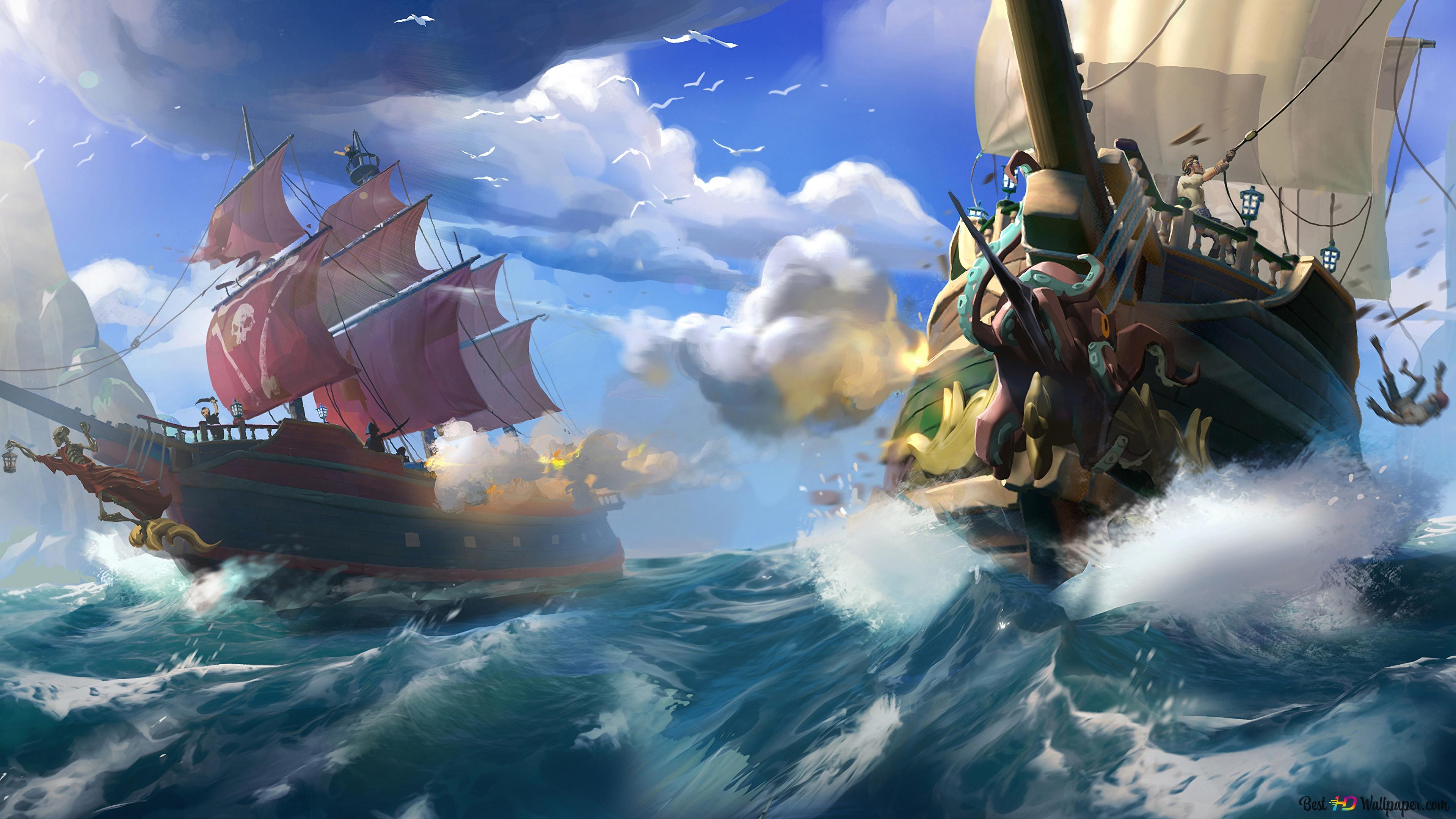 泥棒の海 Hd壁紙のダウンロード