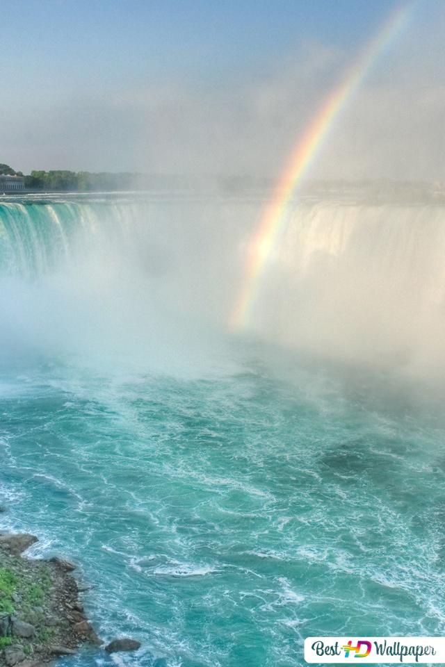 Niagara Falls Радуга HD обои скачать