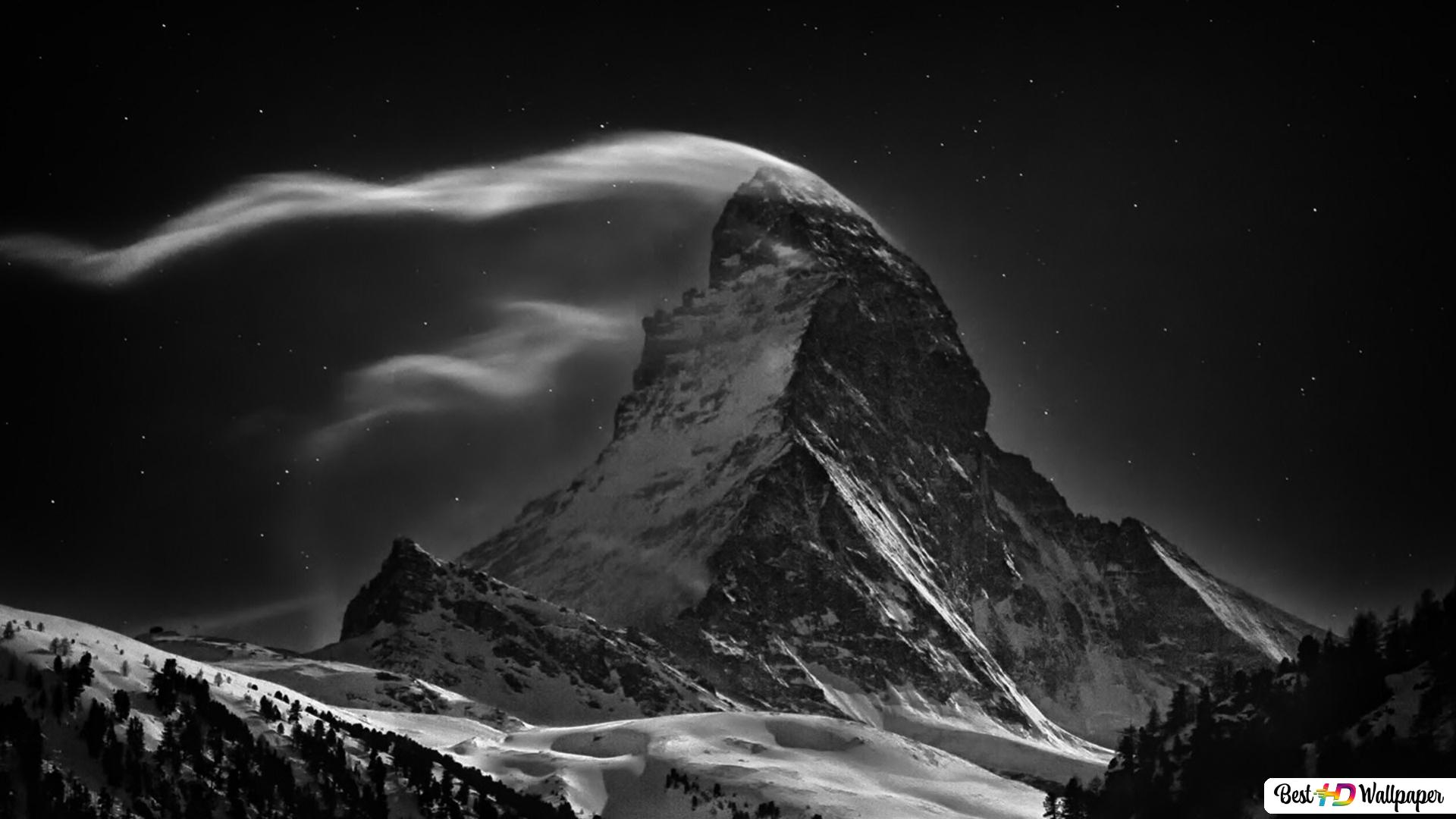 Night In The Mountains Hd Wallpaper Download