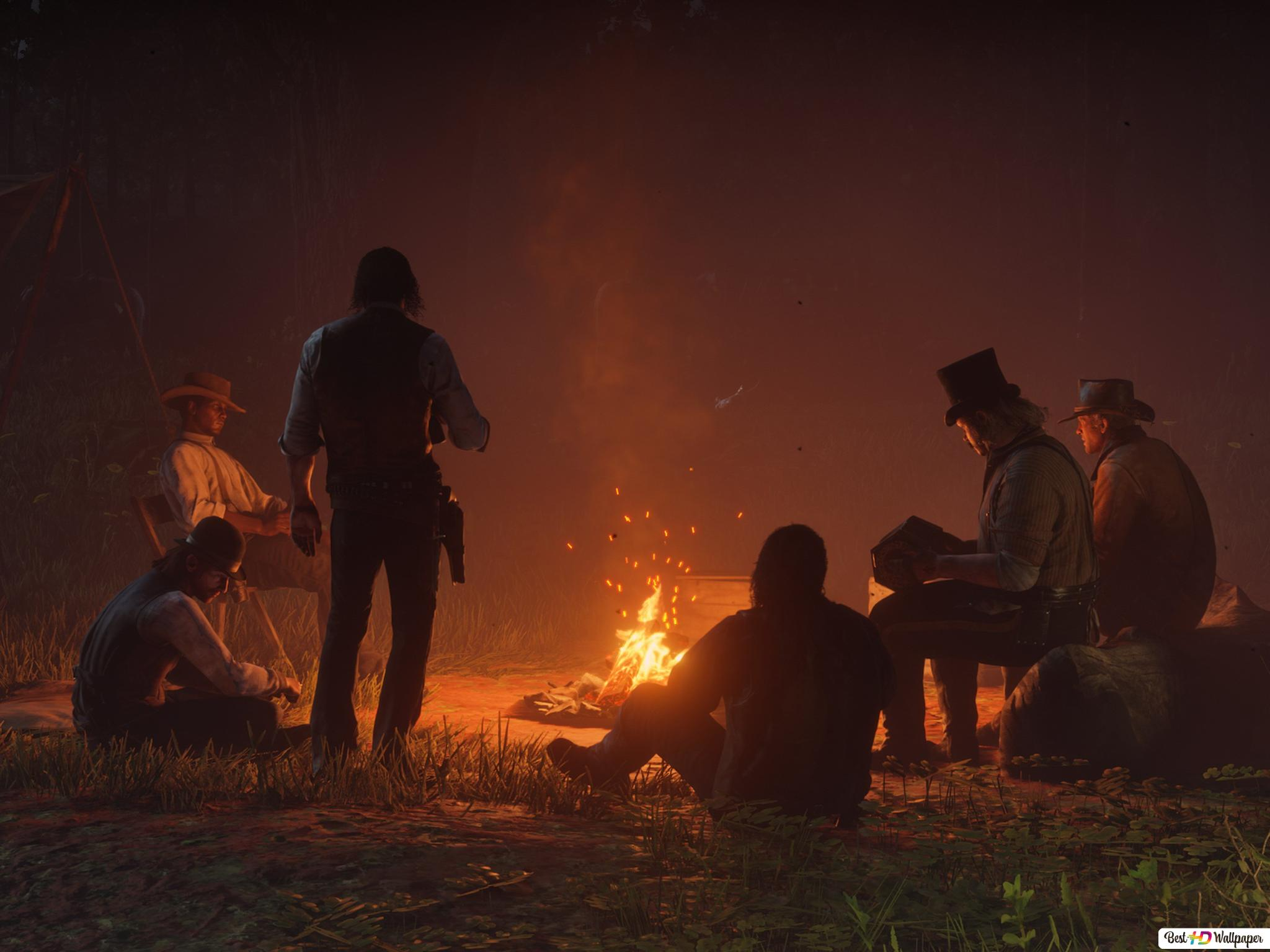Night Of Red Dead Redemption Hd Wallpaper Download