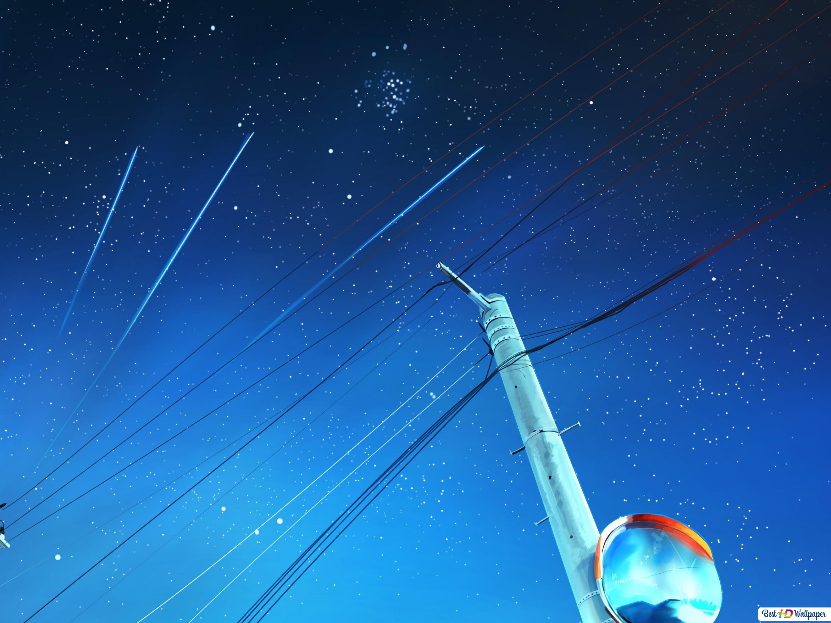 Night Shooting Stars Hd Wallpaper Download