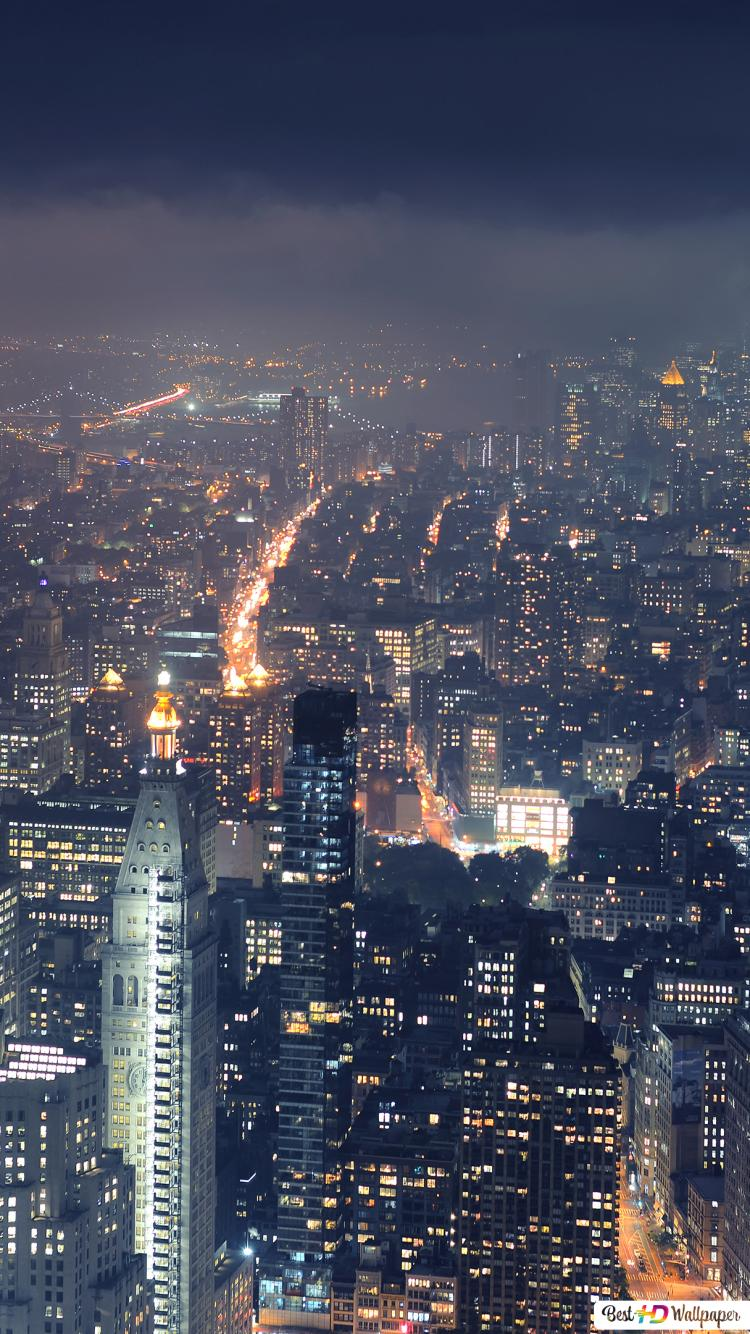 Night Time In New York Hd Wallpaper Download