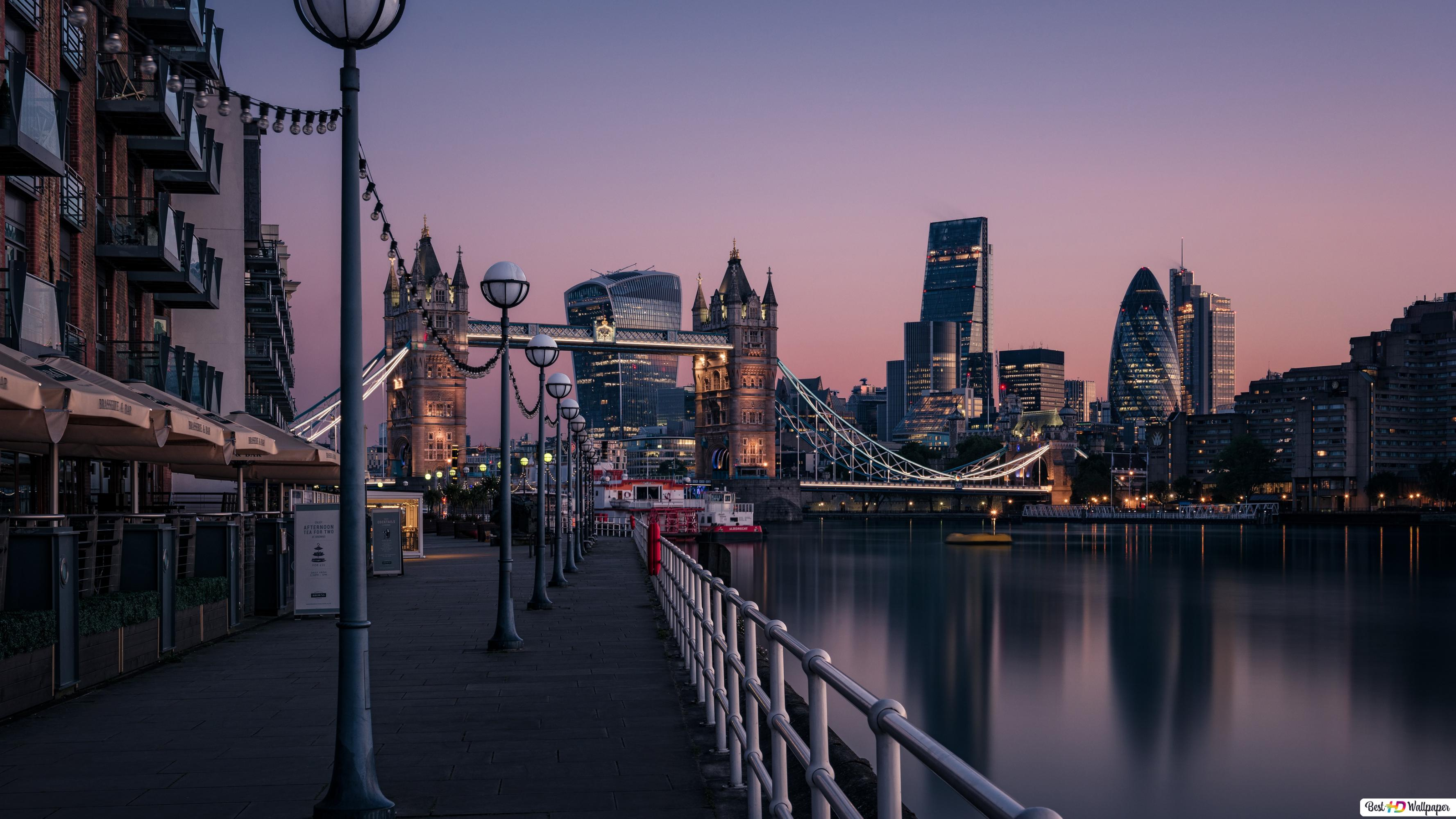 Night View Of The London Bridge Hd Wallpaper Download