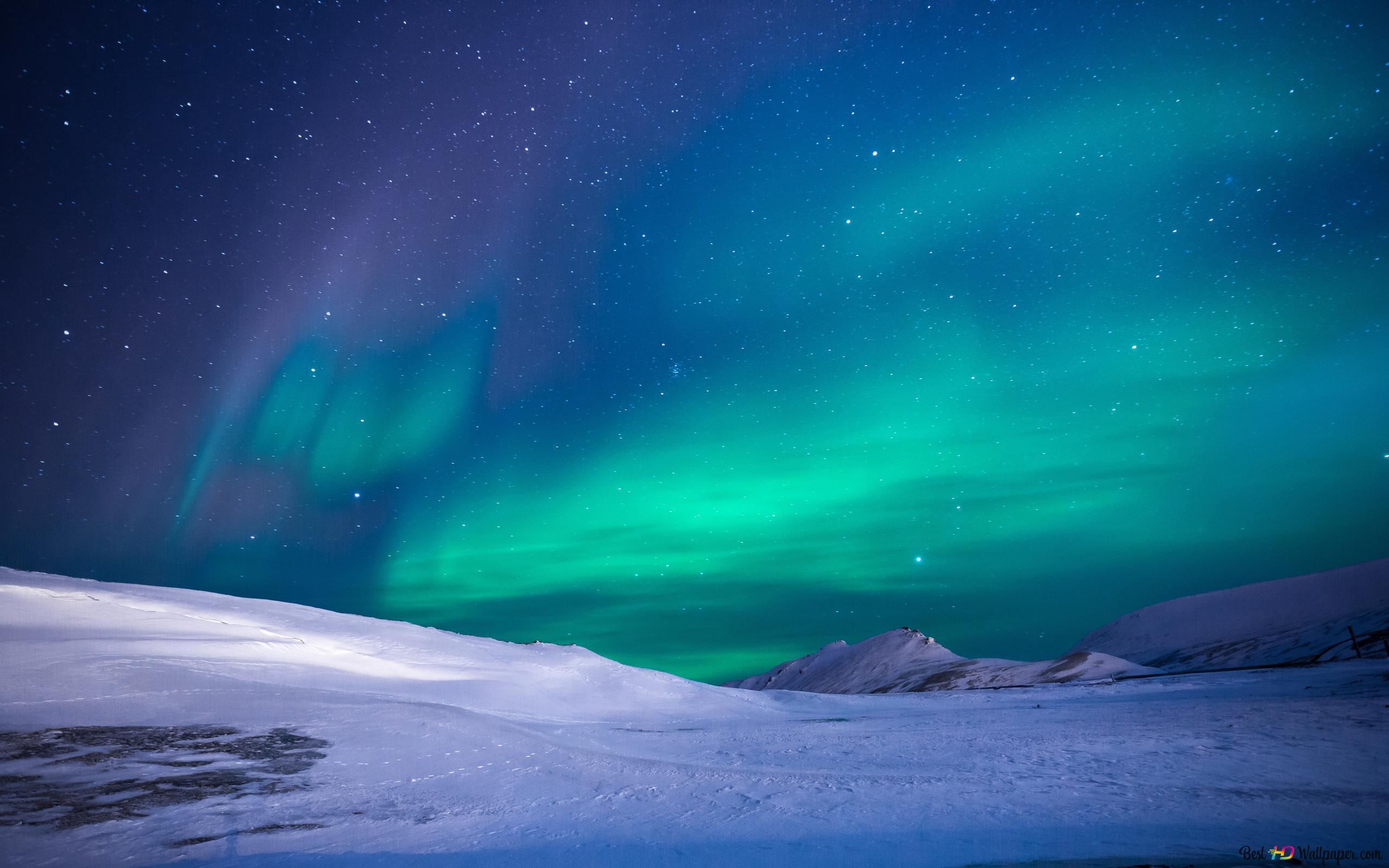 Northern Lights Vert Aurore Boreale Hd Fond D Ecran Telecharger