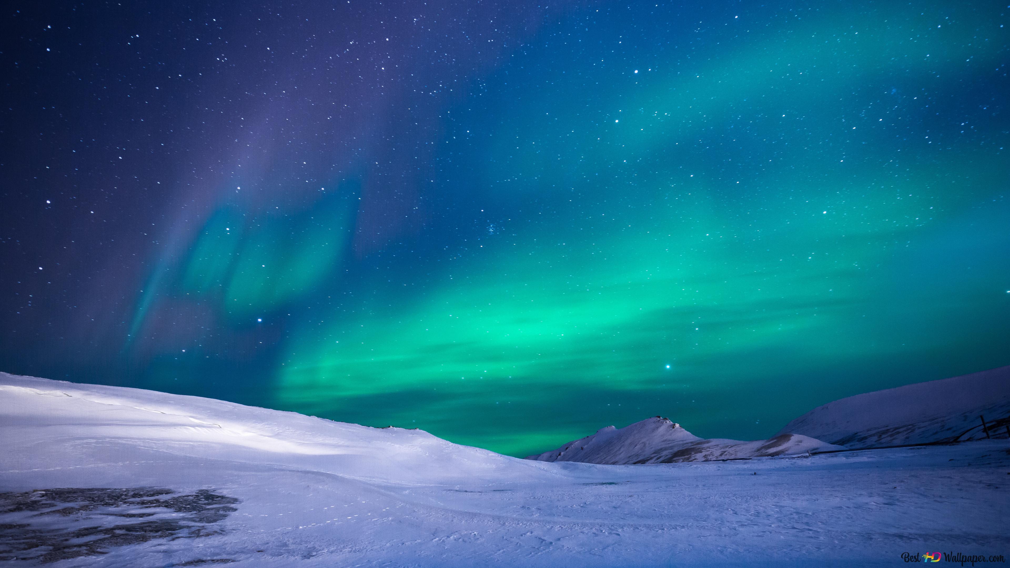 Northern Lights Vert Aurore Boréale Hd Fond Décran Télécharger