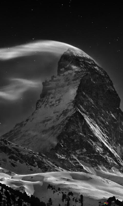 Nuit Dans Les Montagnes Hd Fond D Ecran Telecharger