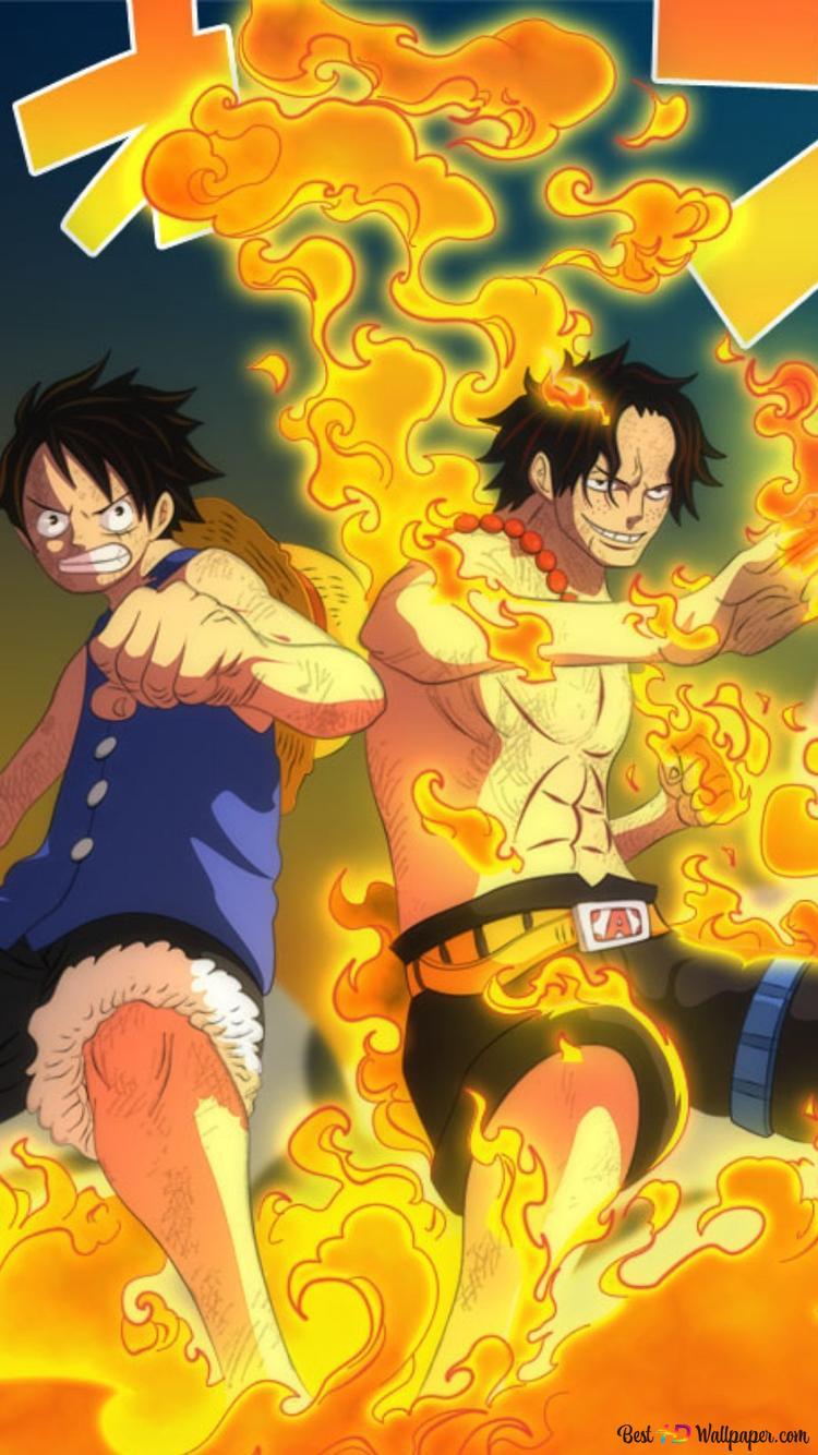 One Piece Ace Und Luffy Hd Hintergrundbilder Herunterladen