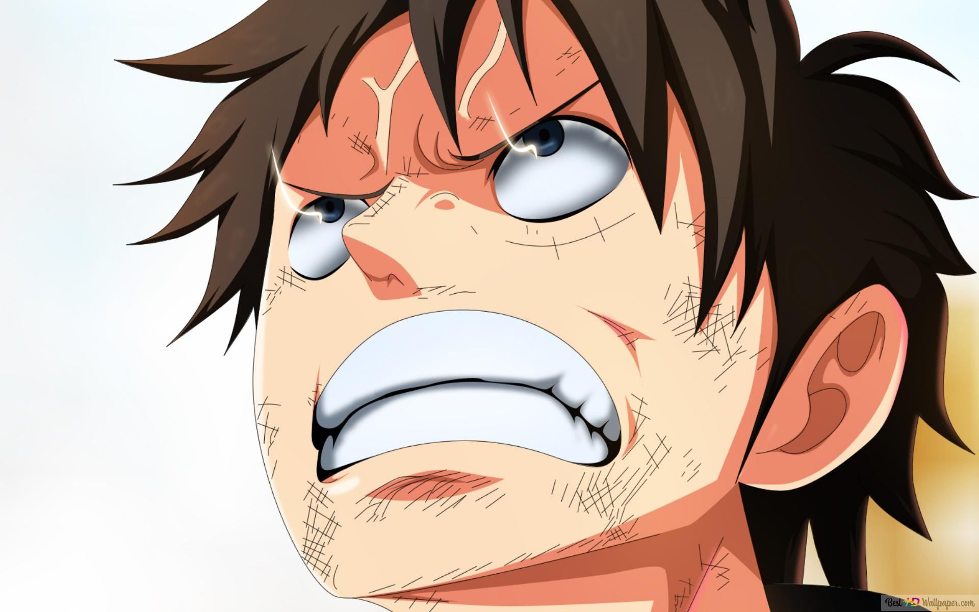 One Piece Angry Monkey D Luffy Hd Wallpaper Download