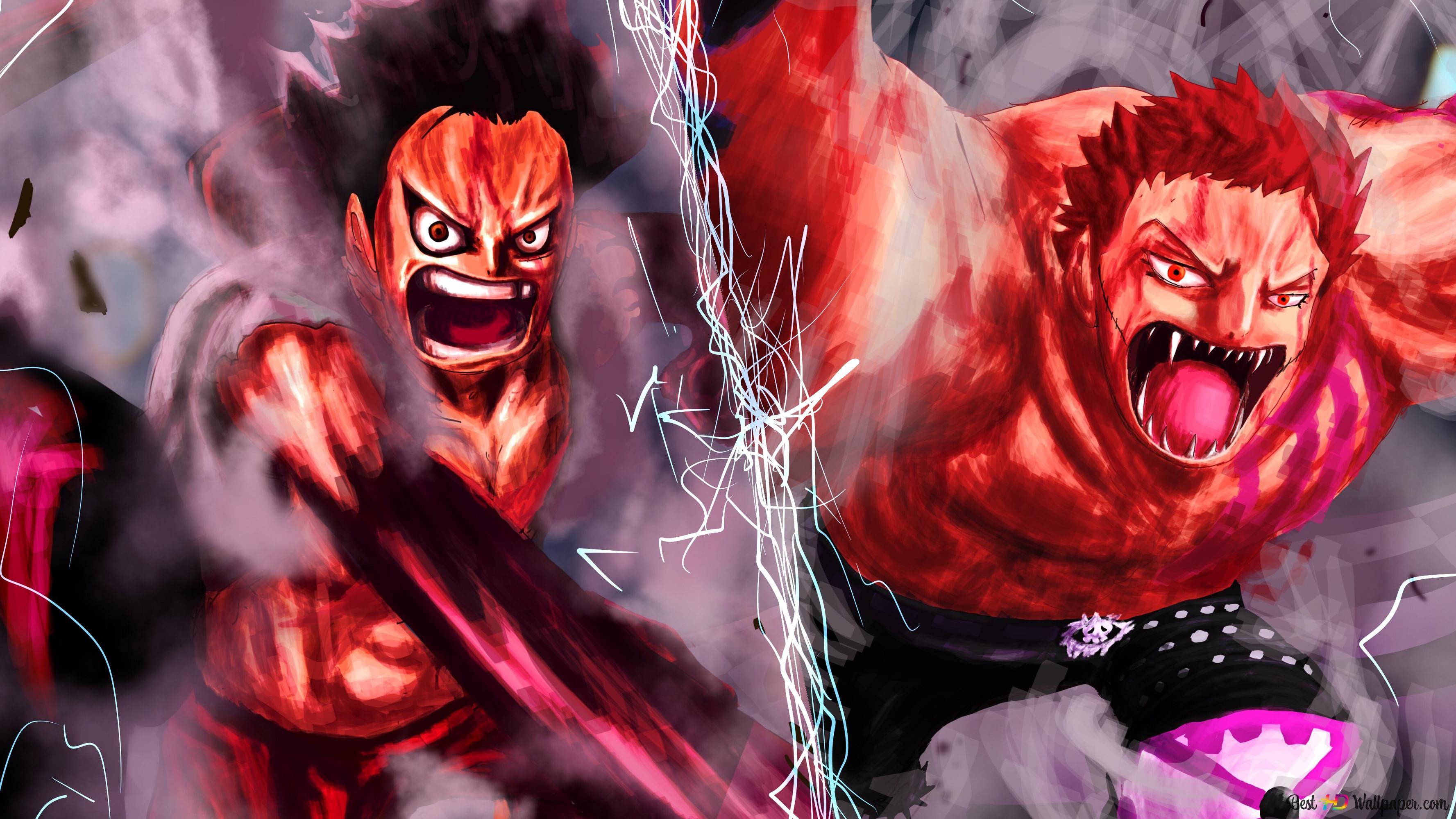 One Piece - Charlotte Katakuri Vs Monkey D. Luffy HD ...