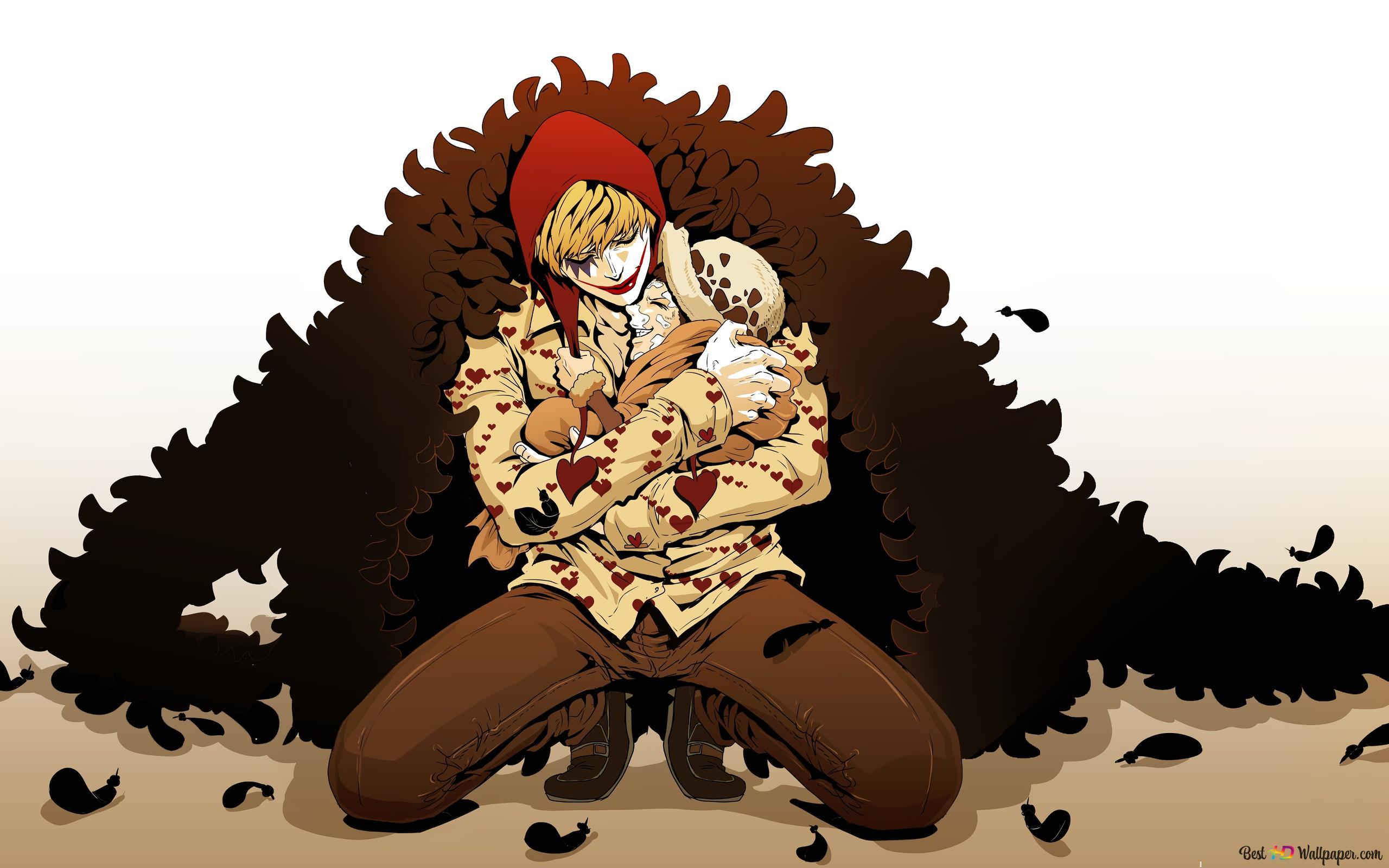 One Piece Corazon Doflamingo Trafalgar Law Hd Wallpaper Download