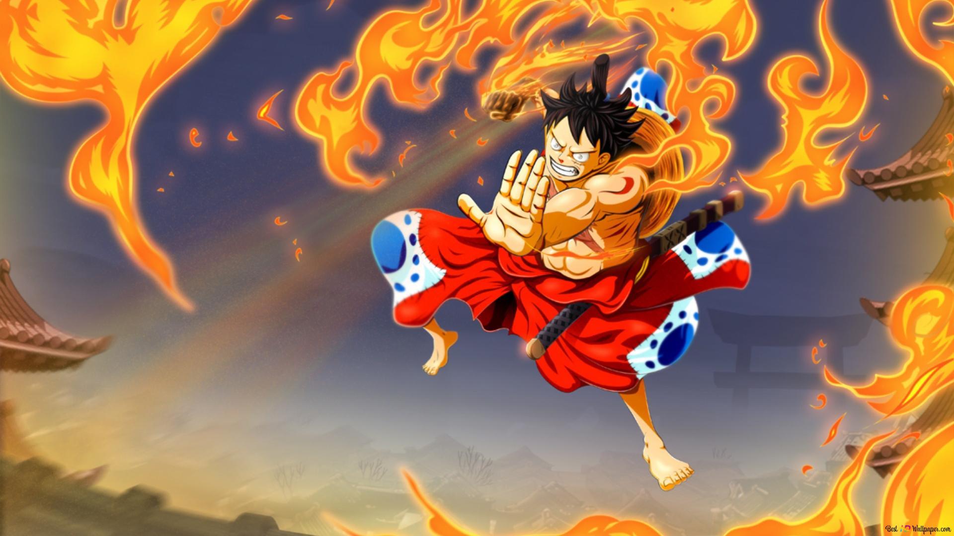 One Piece Elang Gun Monkey D Luffy Unduhan Wallpaper Hd