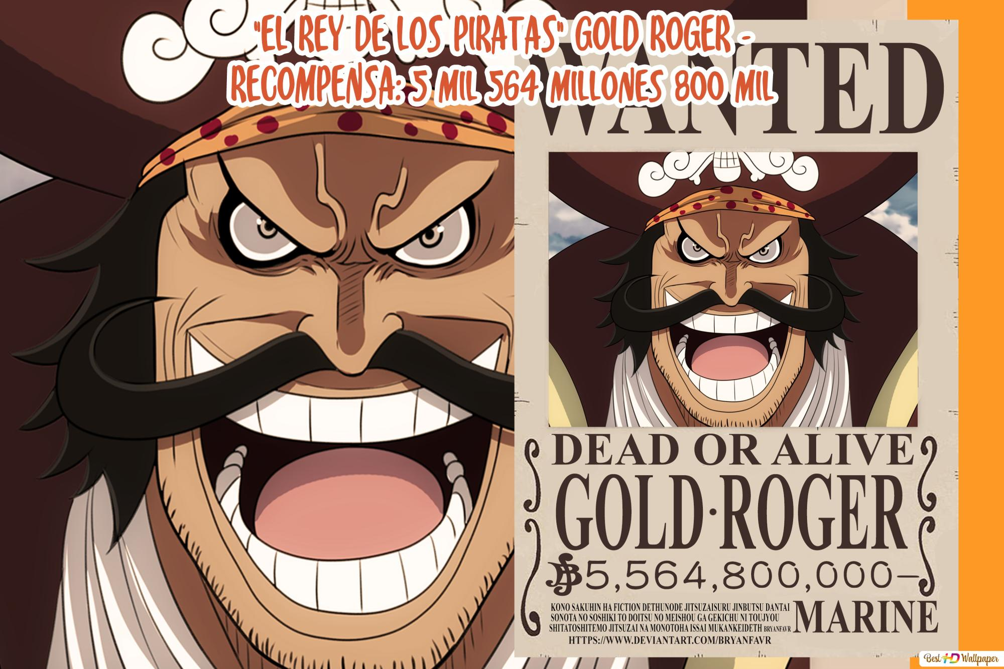 One Piece Gol D Roger Wanted Poster Hd Wallpaper Download