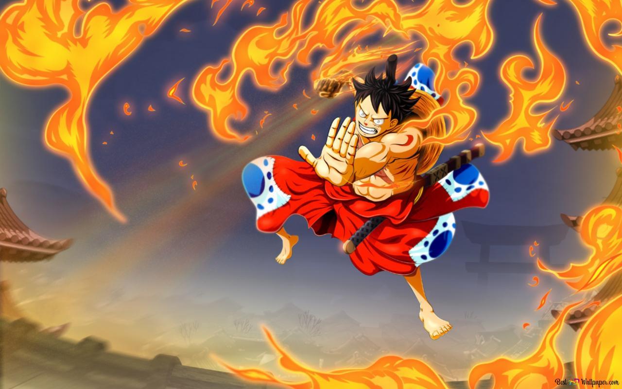One Piece Hawk Gun Monkey D Luffy Hd Wallpaper Download