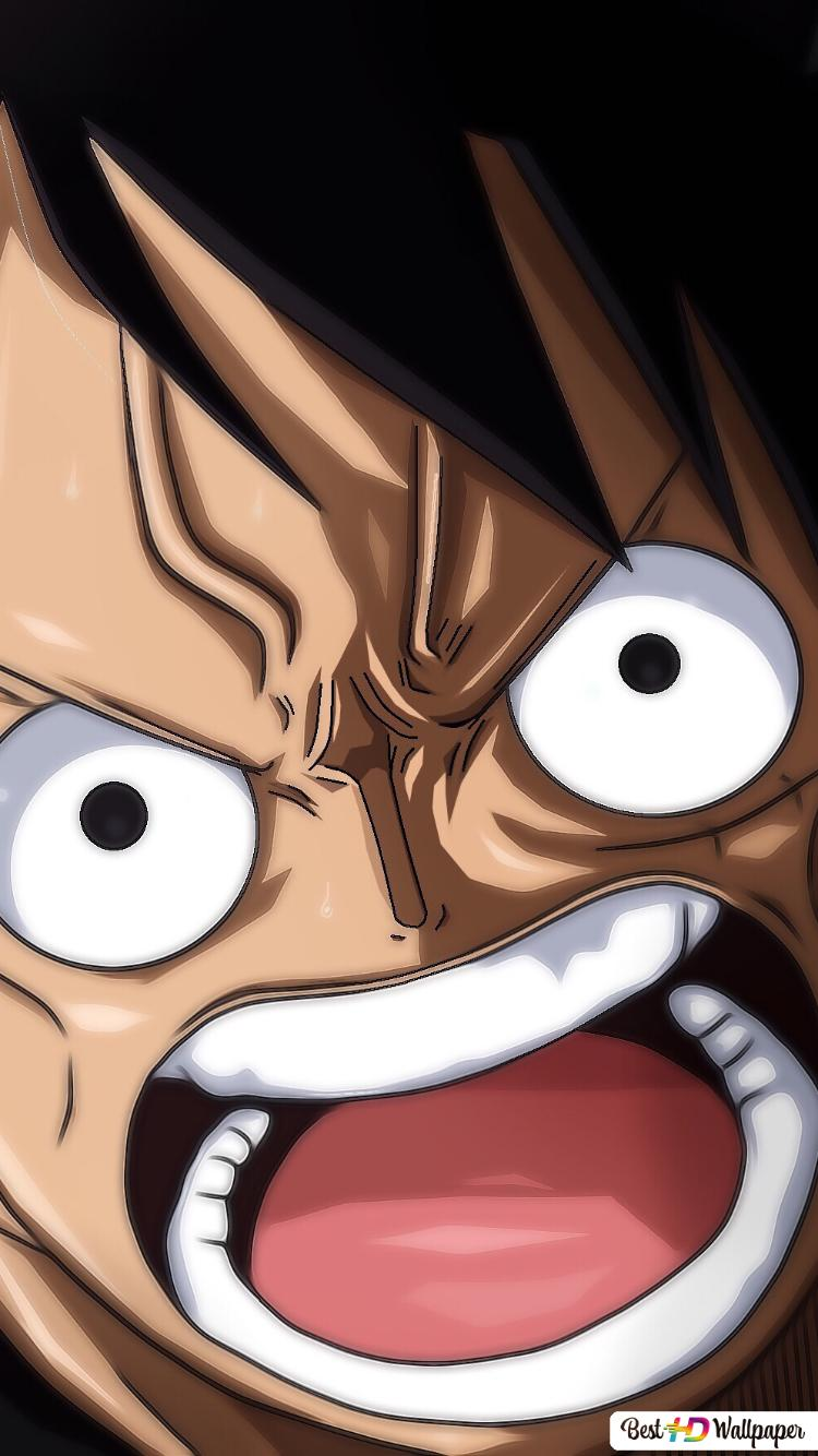 One Piece Monkey D Luffy En Colère Stare Hd Fond Décran