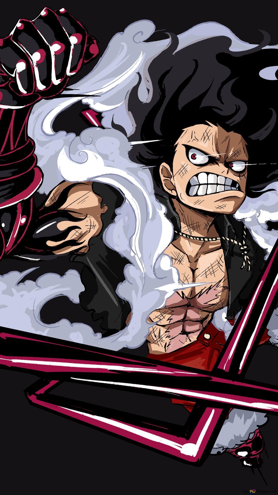 One Piece - Monkey D. Luffy Gear Four Snakeman HD ...