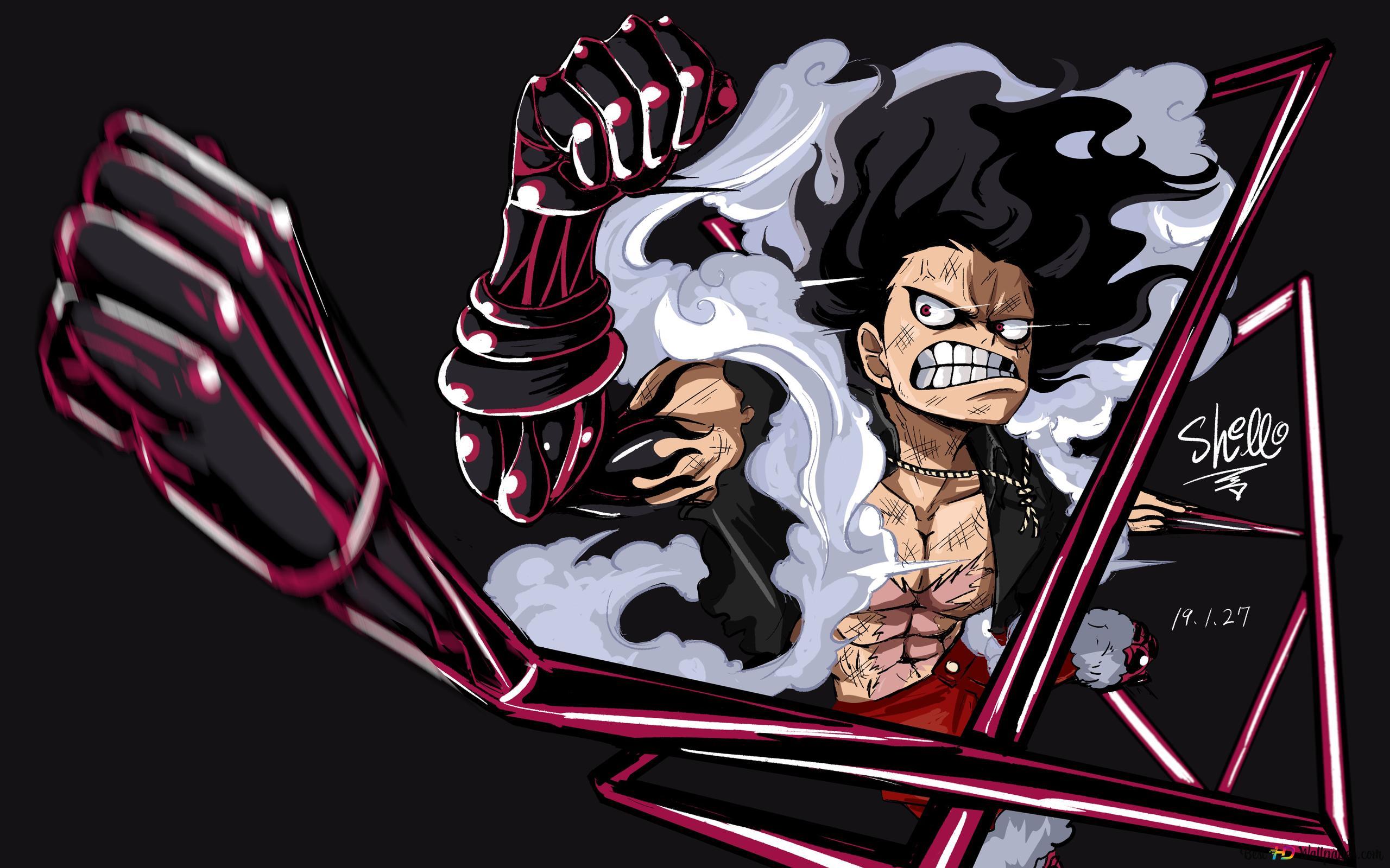 One Piece Monkey D Luffy Gear Four Snakeman Hd