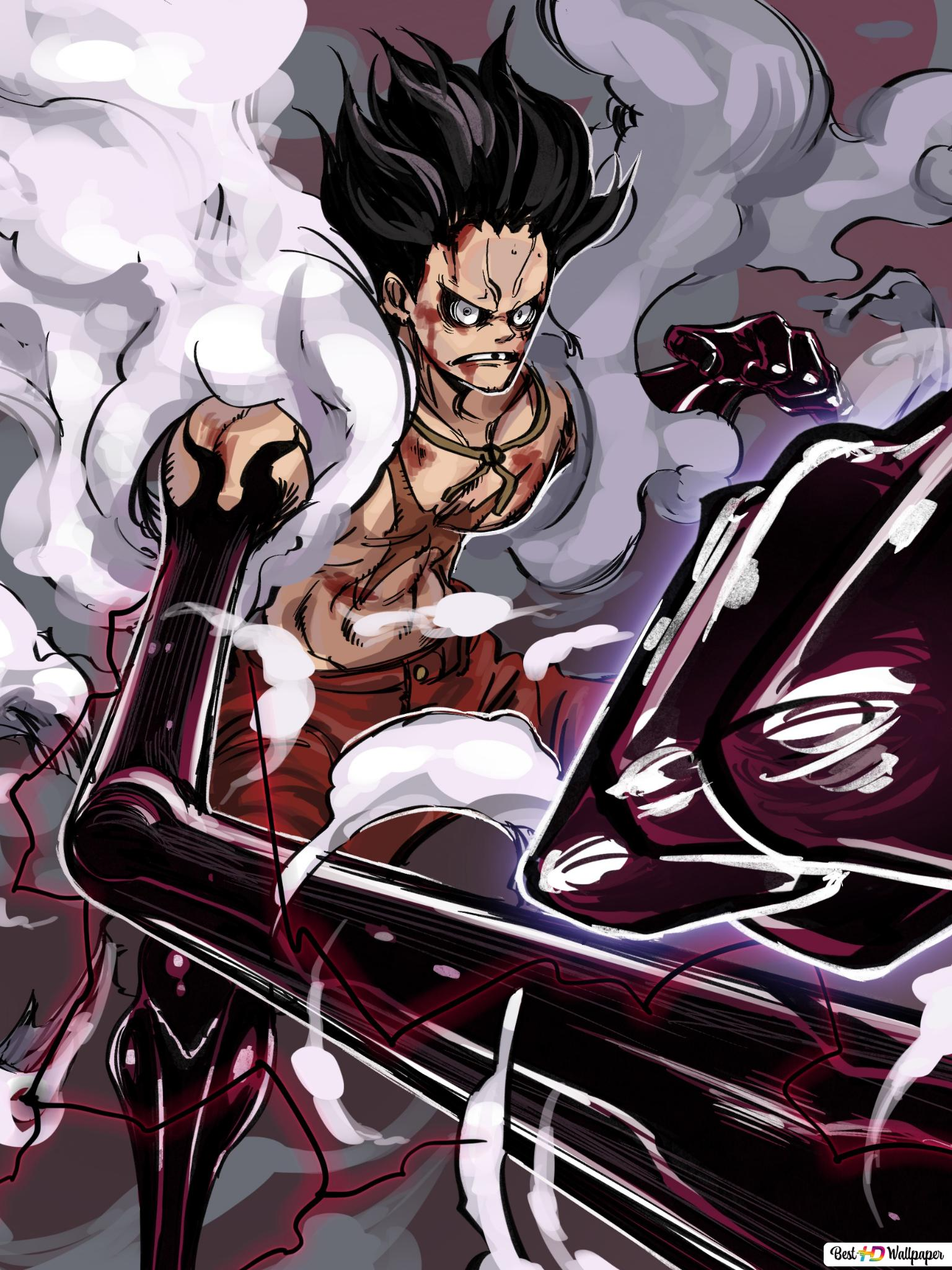 One Piece Monkey D Luffy Gear Fourth Snakeman Hd