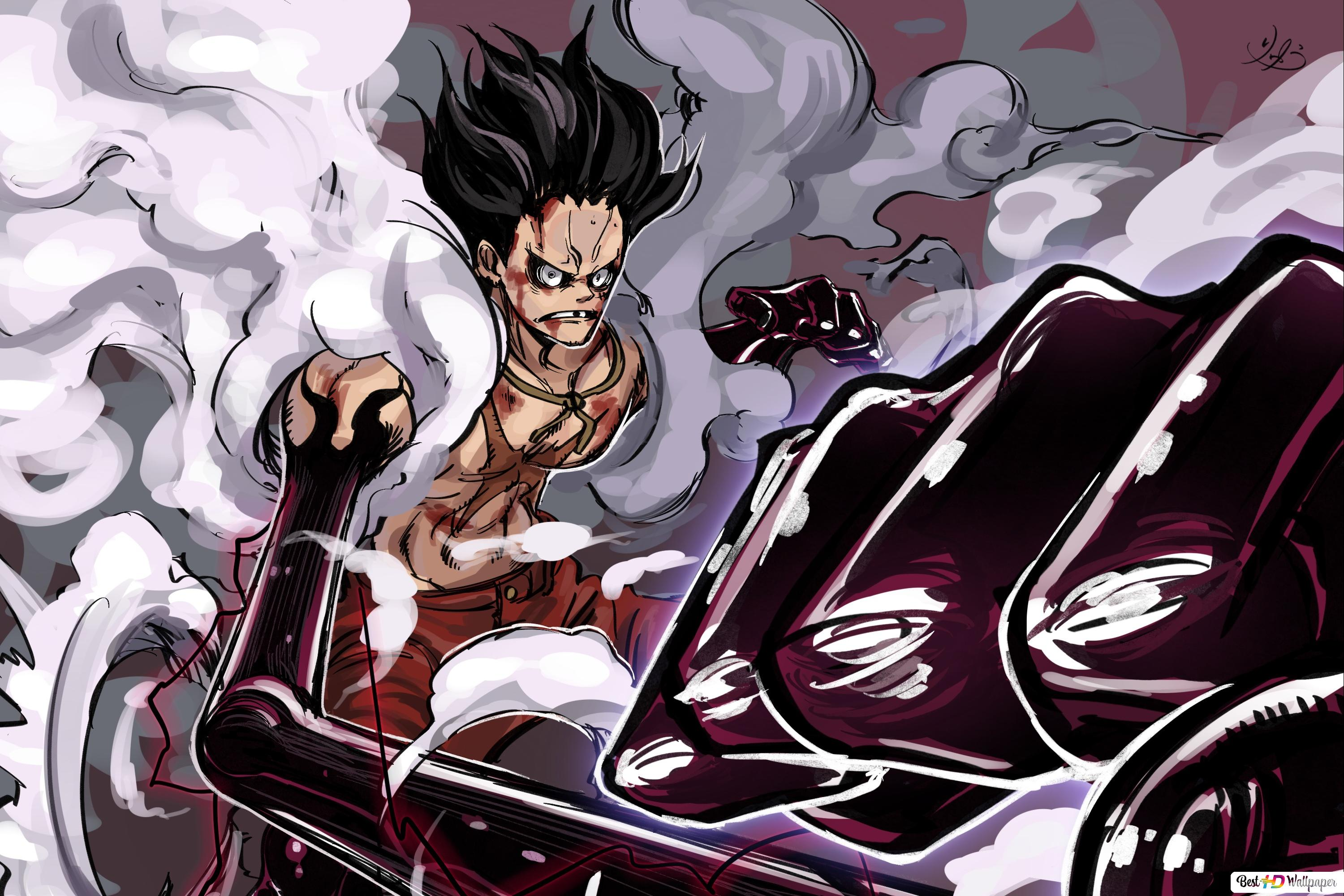 One Piece Monkey D Luffy Gear Fourth Snakeman Hd