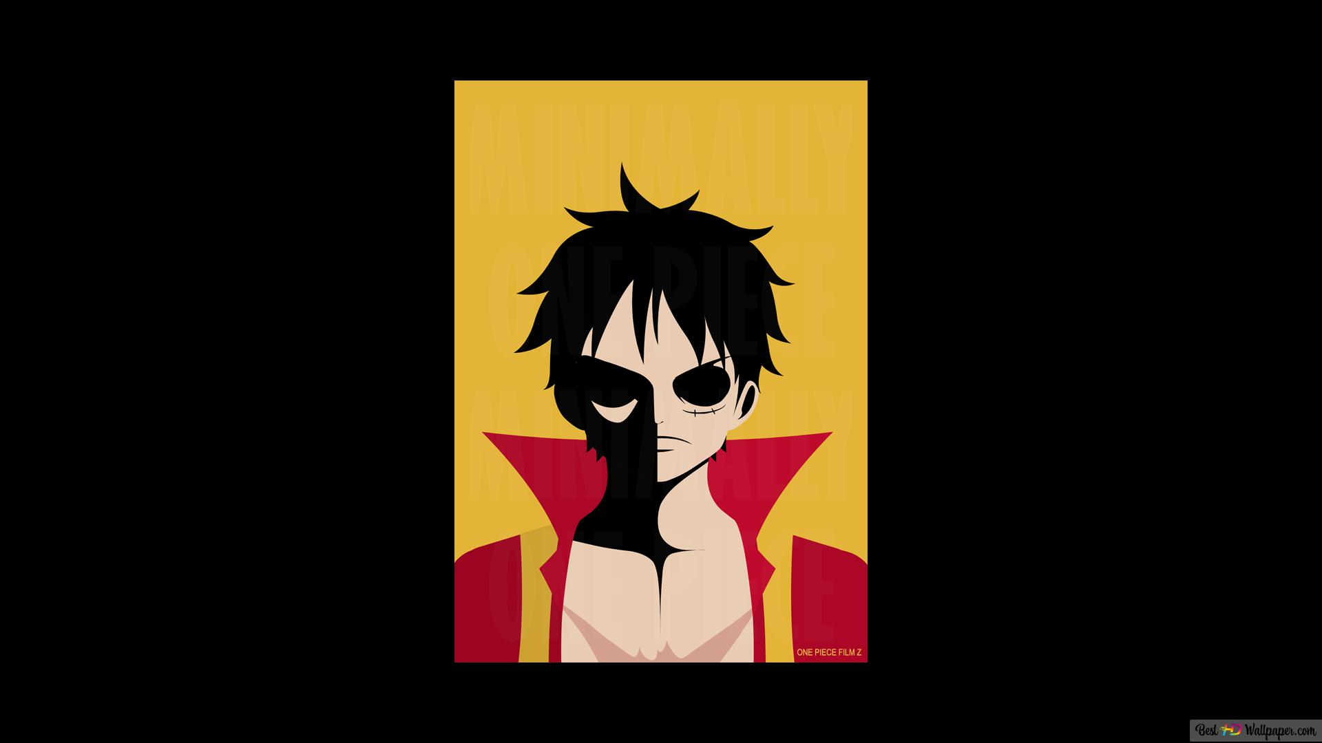 One Piece Monkey D Luffy Minimalist Hd Wallpaper Download