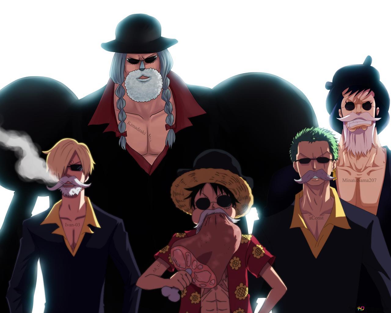 One Piece Monkey D Luffy Roronoa Zoro Sanji Kin Emon Franky Hd Wallpaper Download