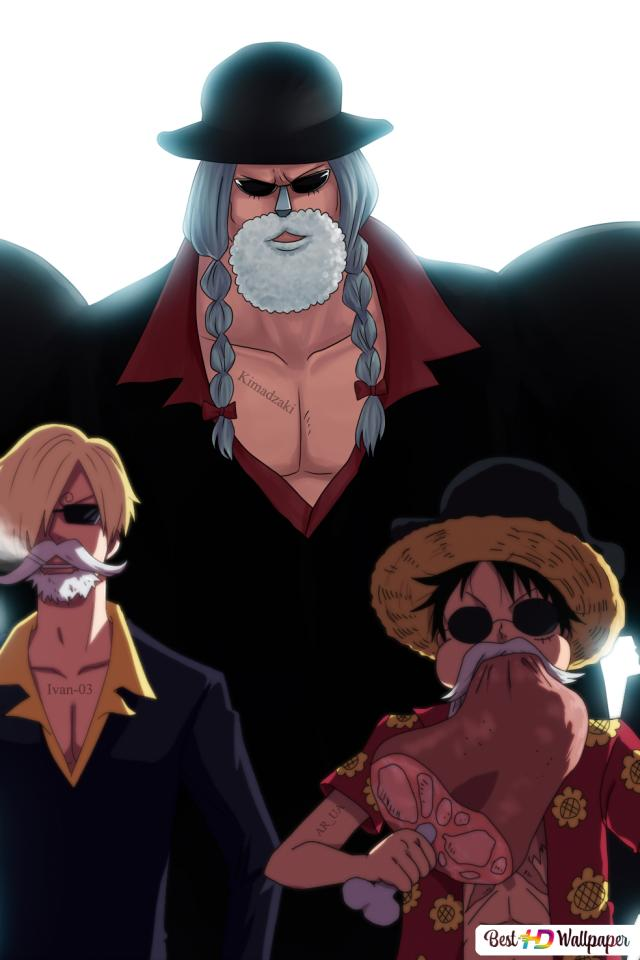One Piece Monkey D Luffy Roronoa Zoro Sanji Kin Emon Franky Unduhan Wallpaper Hd