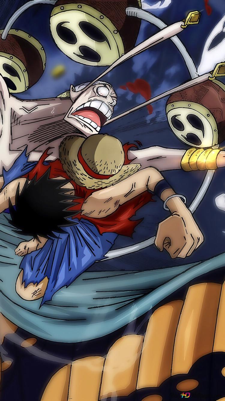 One Piece Monkey D Luffy Vs Enel Hd Hintergrundbilder