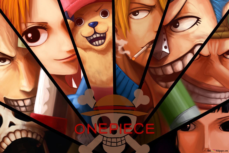 One Piece Monkey D Luffy Zoro Roronoa Usopp Sanji Vinsmoke Nico Robin Franky Tony Tony Chopper Nami Brook Unduhan Wallpaper Hd