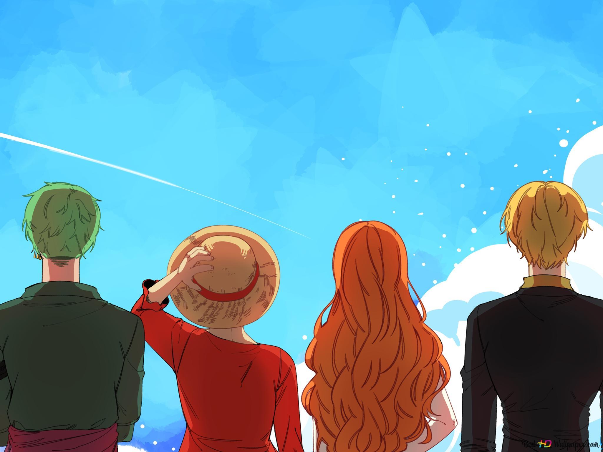 One Piece Mugiwara Crew Hd Wallpaper Download