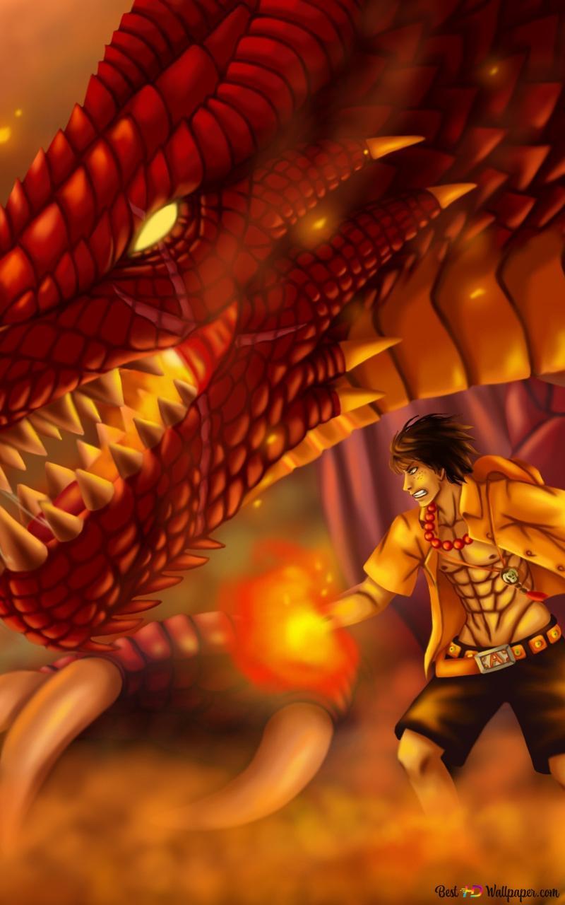 One Piece Portgas D Ace Fire Dragon Hd Wallpaper Download
