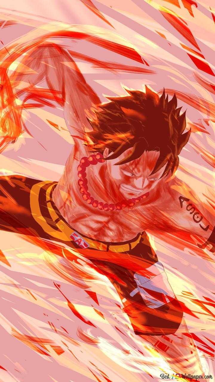 One Piece Portgas D Ace Pirate Fist Feu Hd Fond Décran Télécharger
