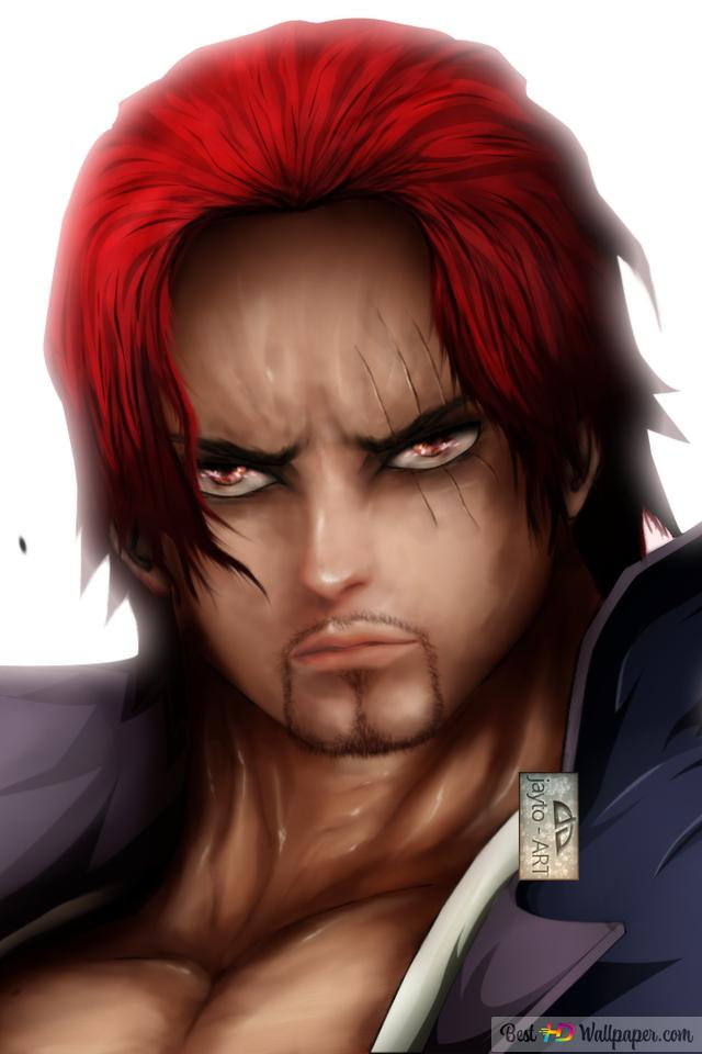 One Piece Red Haired Shanks Hd Wallpaper Download