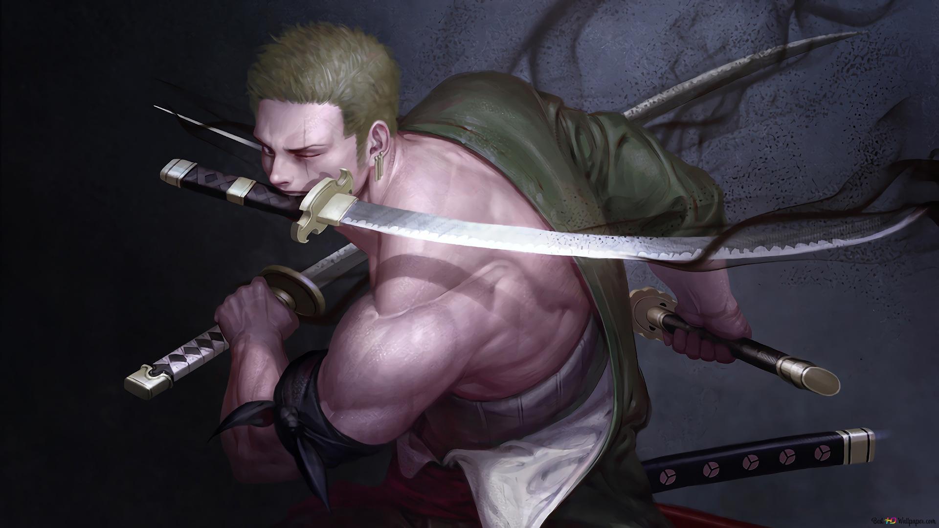 One Piece Roronoa Zoro Katana Three Sword Style Hd Wallpaper Download
