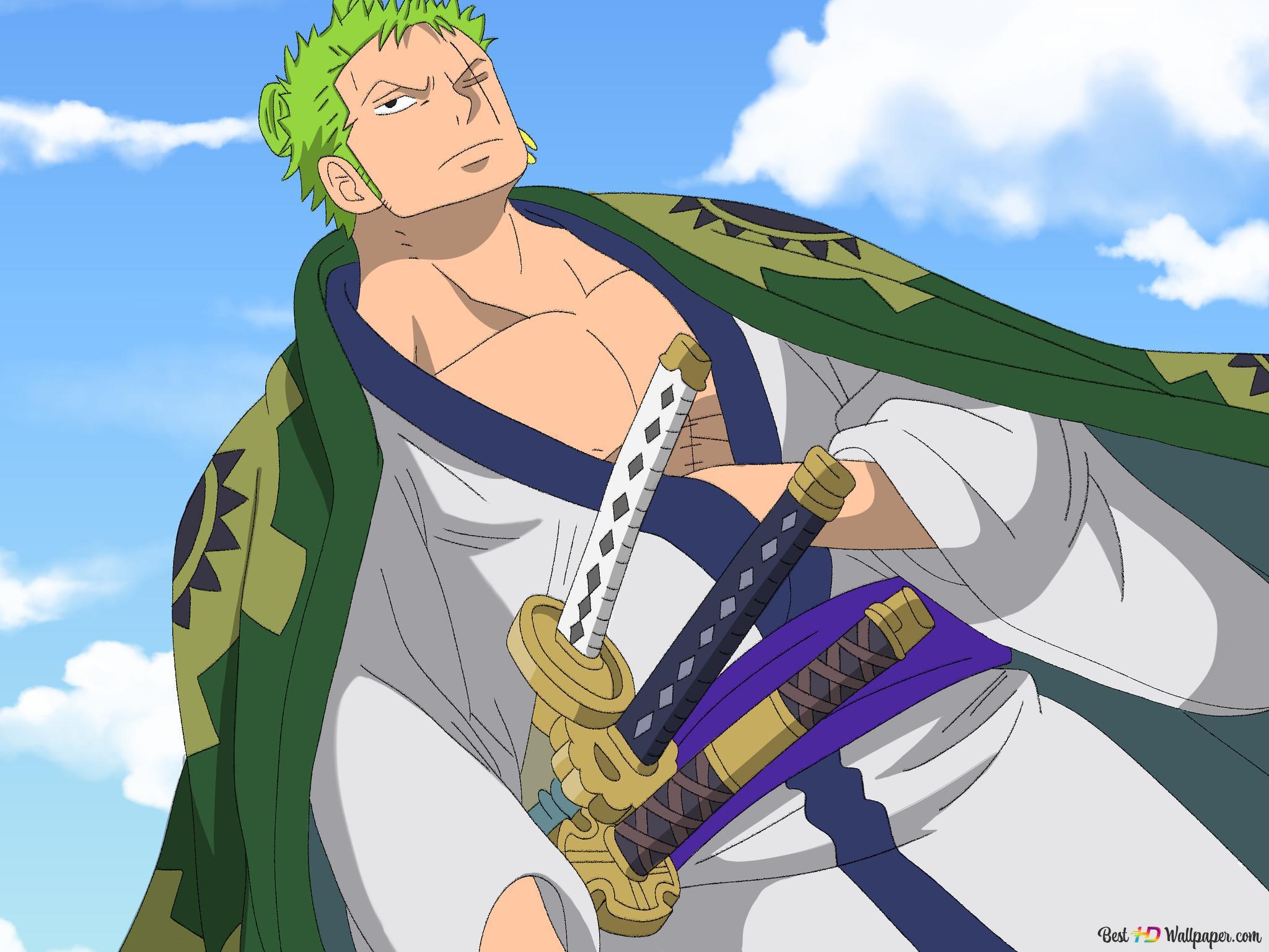 One Piece Roronoa Zoro Unduhan Wallpaper Hd