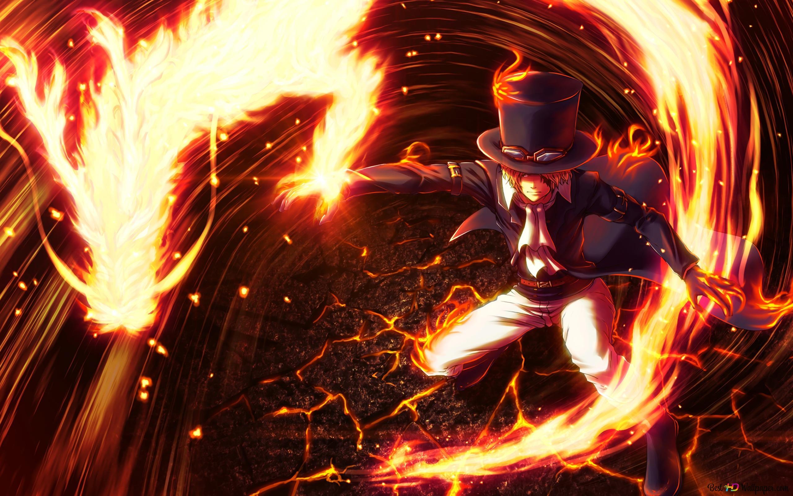 One Piece Sabo Dragon Flame Hd Wallpaper Download