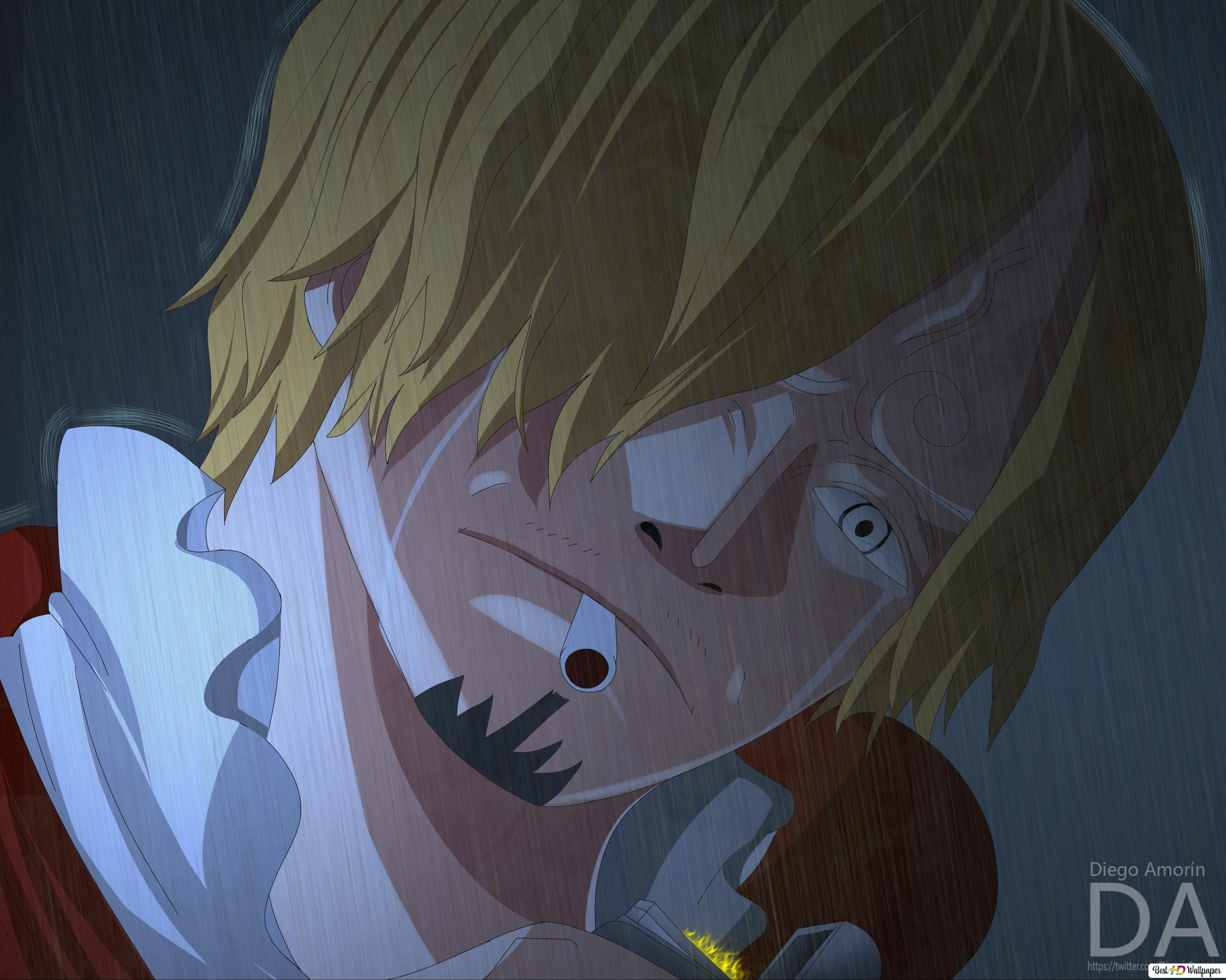 One Piece Sanji Crying Hd Wallpaper Download