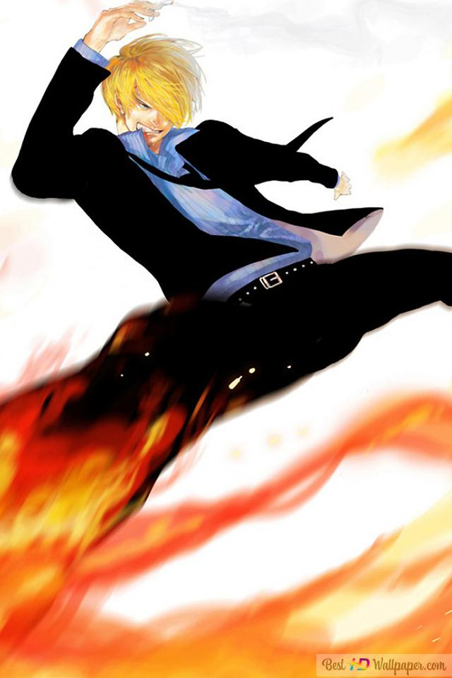 One Piece Sanji Diable Jambe Black Foot Hd Wallpaper Download