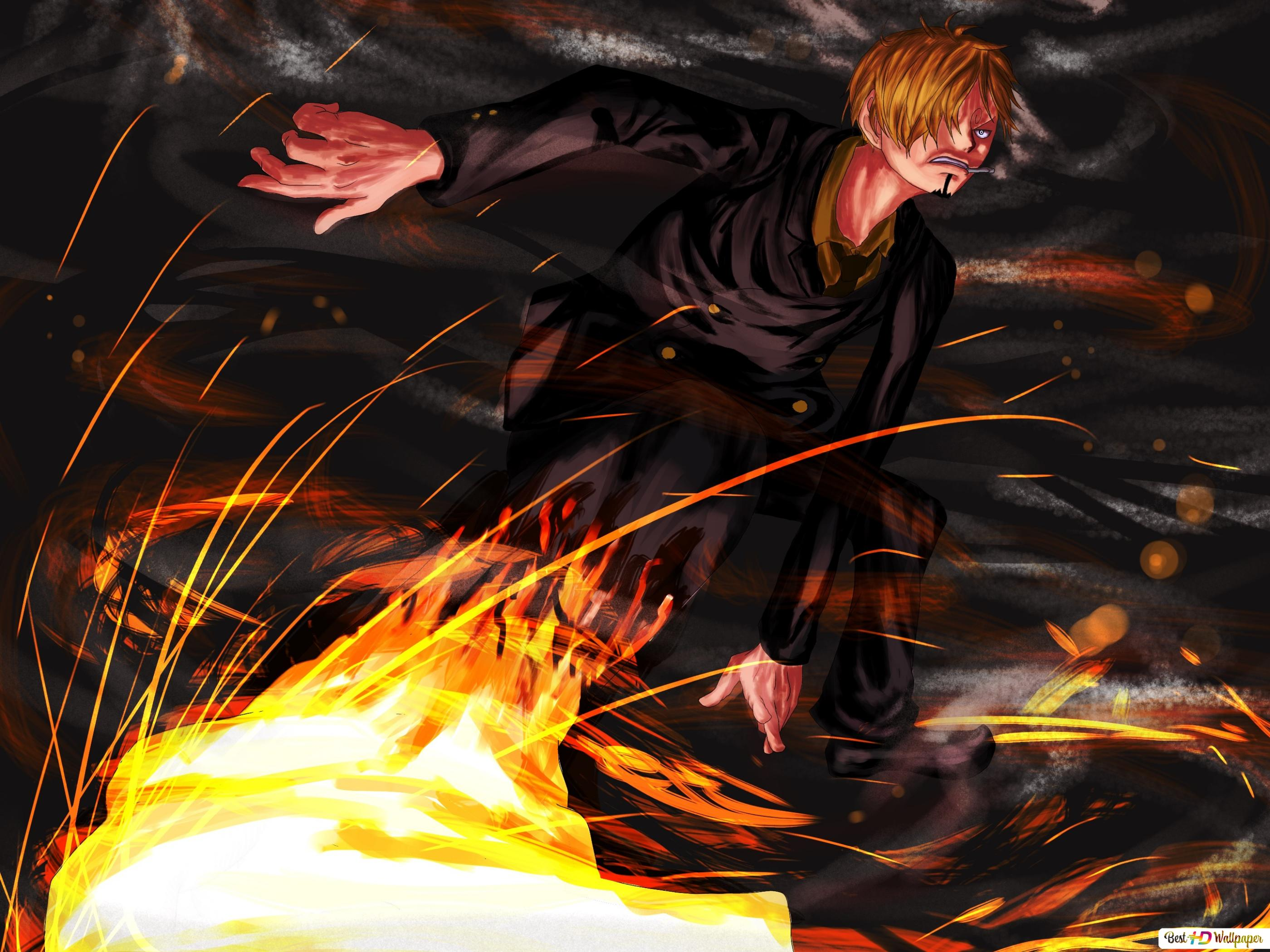 One Piece Sanji Diable Jambe Hd Wallpaper Download