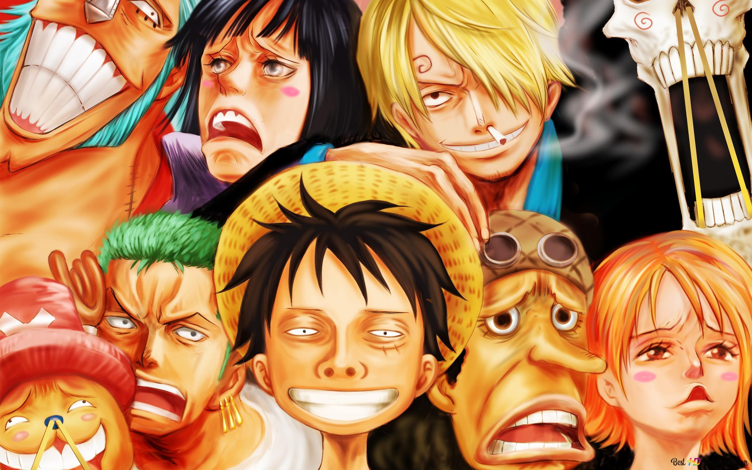 One Piece Strawhat Pirates Unduhan Wallpaper Hd