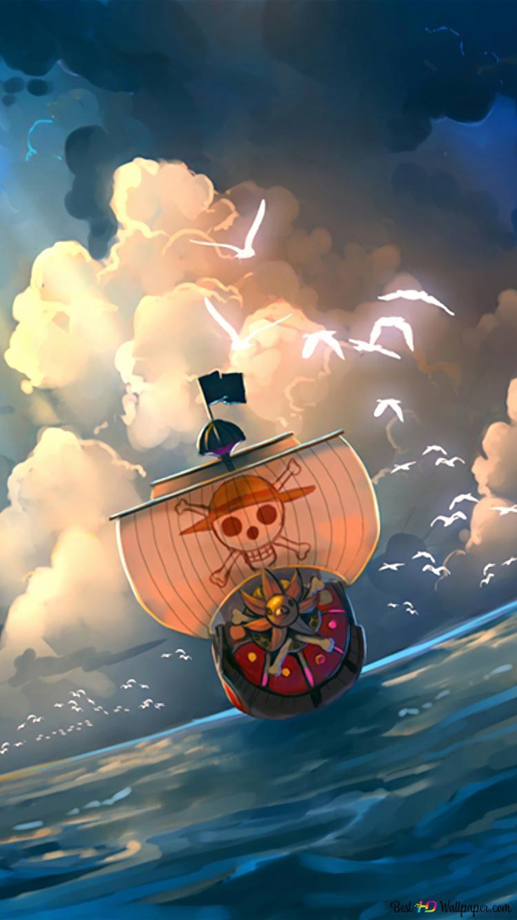 One Piece Thousand Sunny Hd Hintergrundbilder Herunterladen