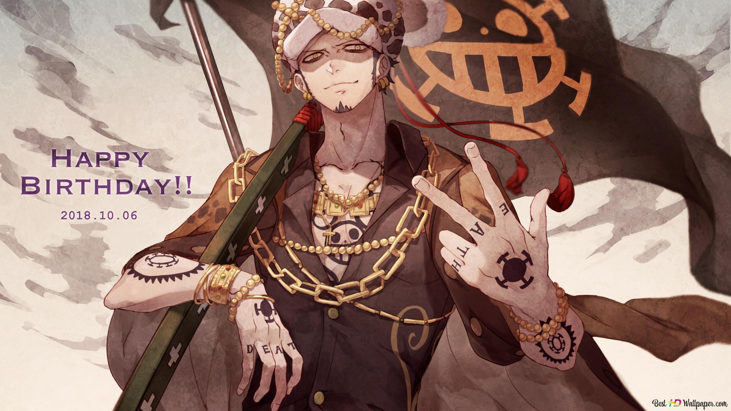 One Piece Trafalgar Law Heart Pirate Hd Wallpaper Download