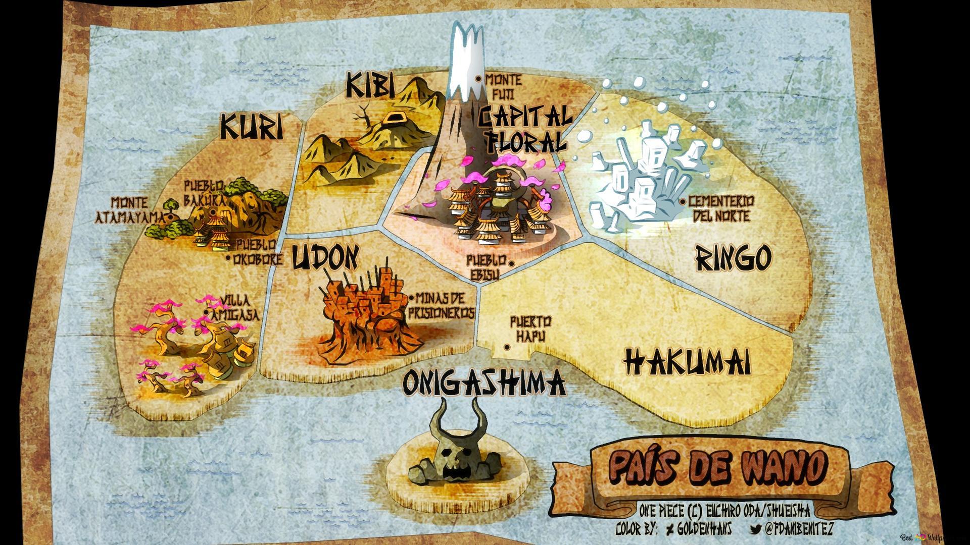 One Piece Wano Map Hd Wallpaper Download