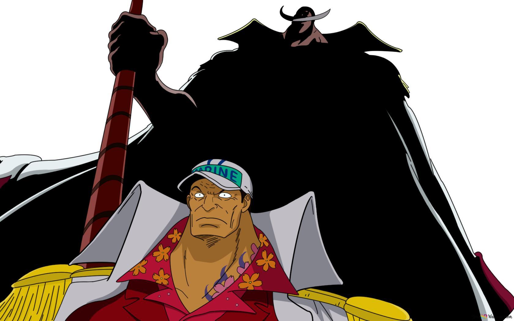One Piece Whitebeard Edward Newgate Akainu Hd Wallpaper Download