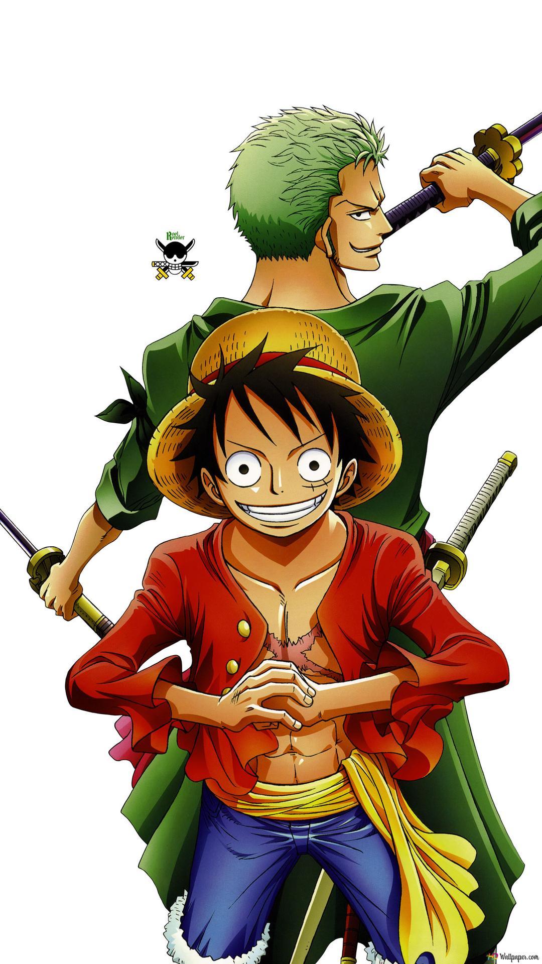 One Piece Zoro Luffy Hd Hintergrundbilder Herunterladen