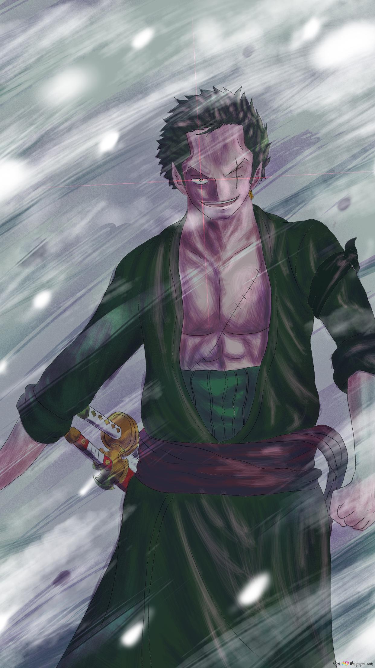 One Piece Zoro Roronoa Hd Hintergrundbilder Herunterladen